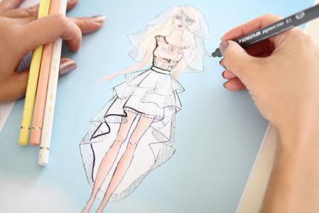 Dessin Jupe tutu blanche courte devant et longue derrière en tulle