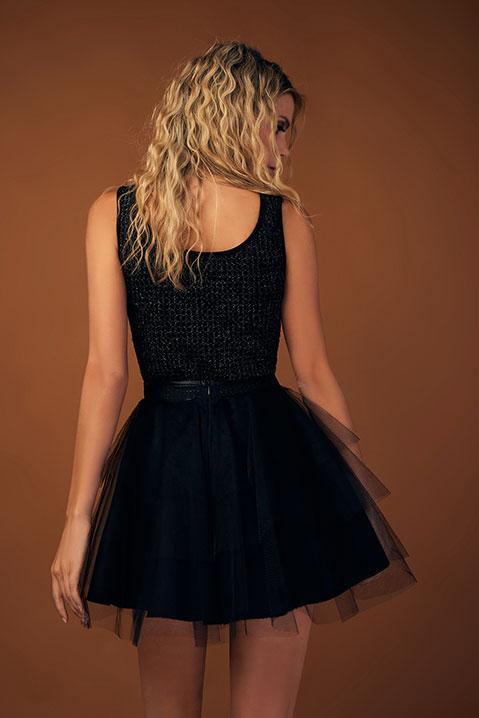 Jupe tutu court createur noir (Vue detail)