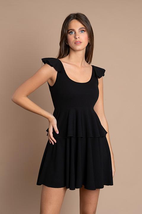 Petite Robe Noire Patineuse (trois quart dos)