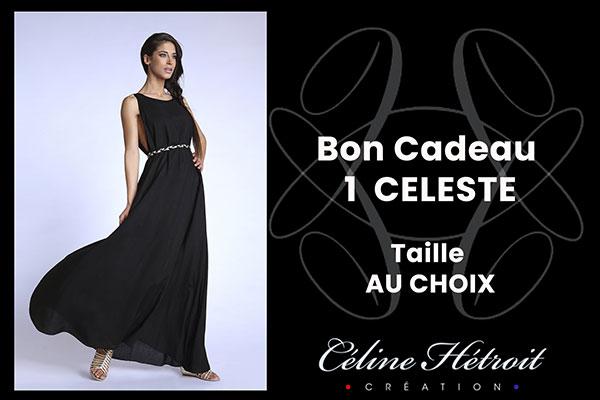 Carte Cadeau Céline Hétroit Création pour Robe de soirée longue large noire