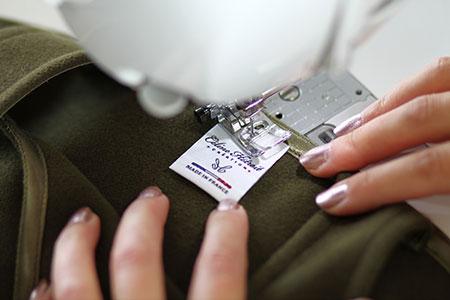 Etiquette Made in France Robe Salopette en Lainage Kaki