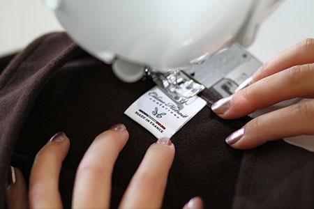 Etiquette Made in France Robe Salopette en Lainage marron
