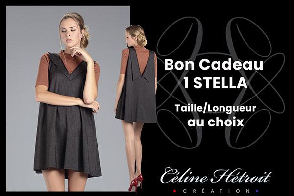 Carte Cadeau Céline Hétroit Création pour Robe évasée Courte Col Tailleur en Tweed Marron