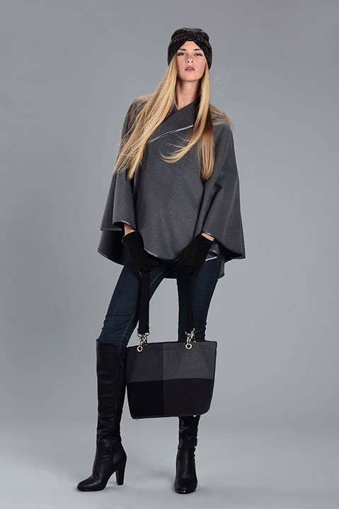 Sac a main en lainage gris (Look 2 avec Cape)