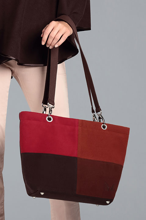 Sac a main en lainage marron (Look 1 avec Cape)