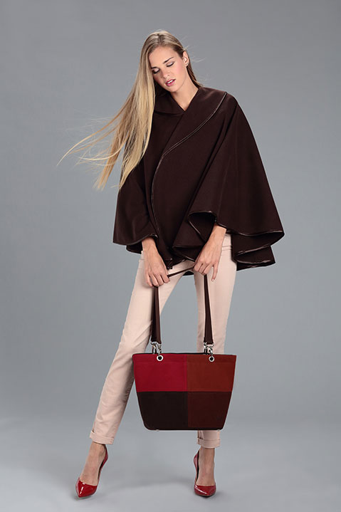 Sac a main en lainage marron (Look 2 avec Cape)
