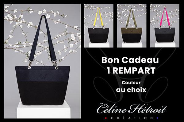 Carte Cadeau Céline Hétroit Création pour Sac à main en lainage gris anthracite et sangles jaunes