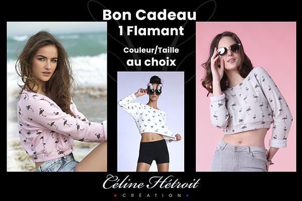 Carte Cadeau Céline Hétroit Création pour Sweat crop top rose