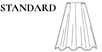 Jupe patineuse noire en lainage Taille Standard