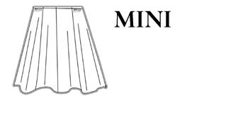 Mini Jupe Patineuse noire en lainage